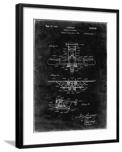 PP29 Black Grunge-Borders Cole-Framed Art Print