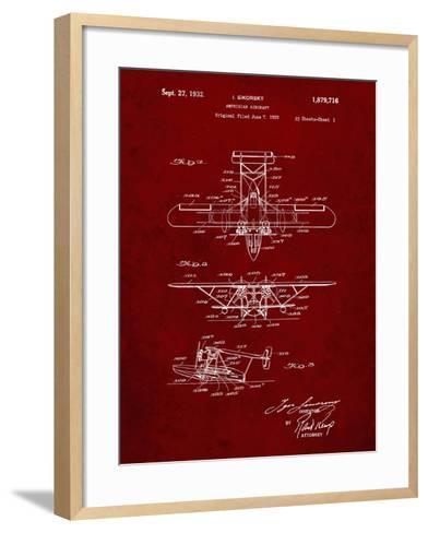 PP29 Burgundy-Borders Cole-Framed Art Print