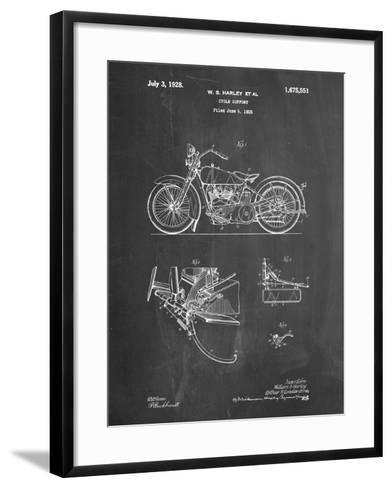 PP10 Chalkboard-Borders Cole-Framed Art Print