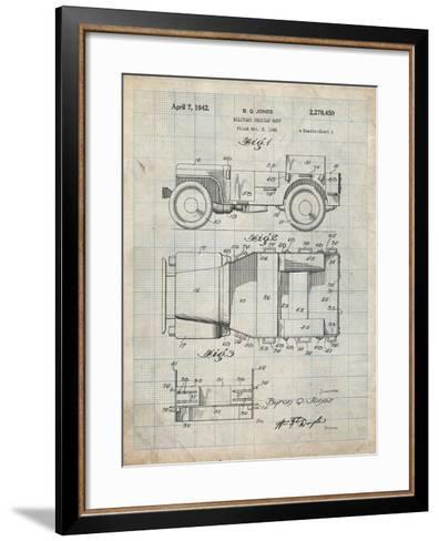 PP11 Antique Grid Parchment-Borders Cole-Framed Art Print