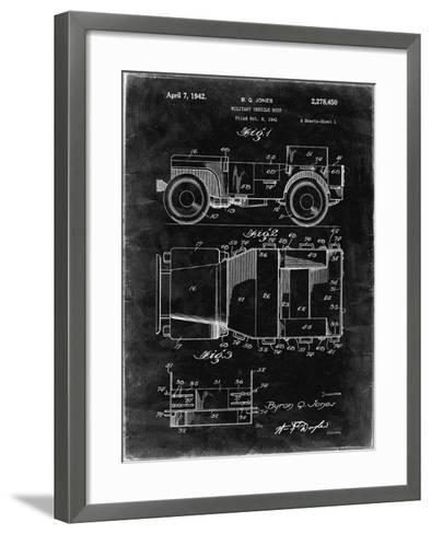 PP11 Black Grunge-Borders Cole-Framed Art Print