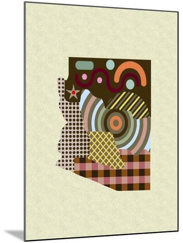 Arizona State Map-Lanre Adefioye-Mounted Giclee Print