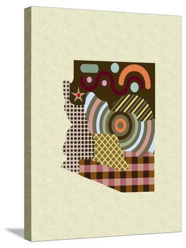 Arizona State Map-Lanre Adefioye-Stretched Canvas Print