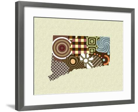 Connecticut State Map-Lanre Adefioye-Framed Art Print