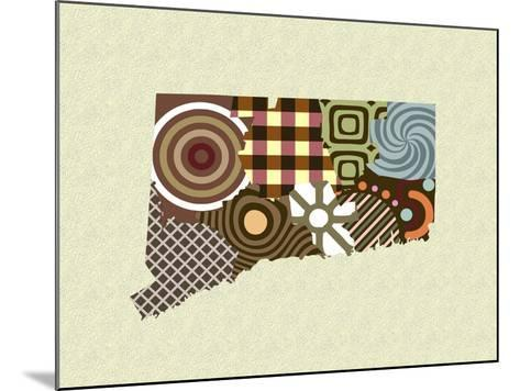 Connecticut State Map-Lanre Adefioye-Mounted Giclee Print