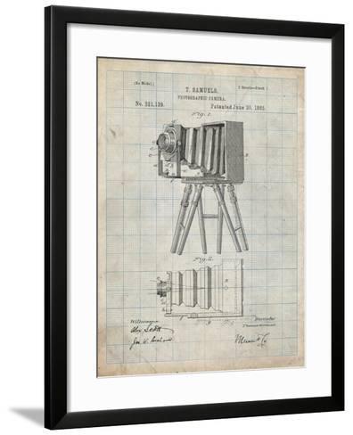 PP33 Antique Grid Parchment-Borders Cole-Framed Art Print