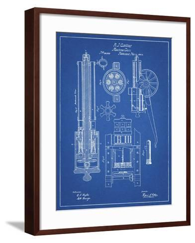 PP23 Blueprint-Borders Cole-Framed Art Print