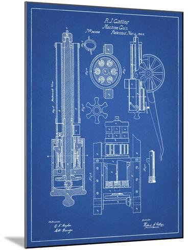 PP23 Blueprint-Borders Cole-Mounted Giclee Print
