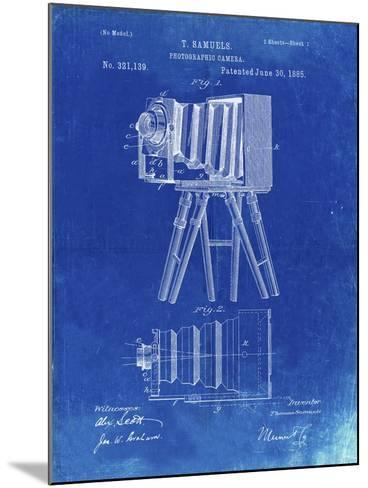 PP33 Faded Blueprint-Borders Cole-Mounted Giclee Print