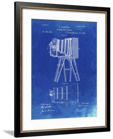 PP33 Faded Blueprint-Borders Cole-Framed Art Print