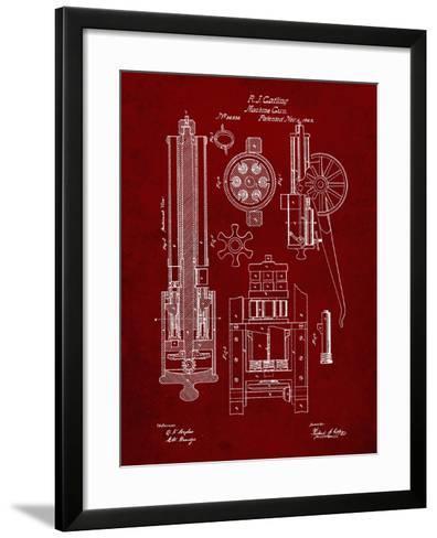 PP23 Burgundy-Borders Cole-Framed Art Print