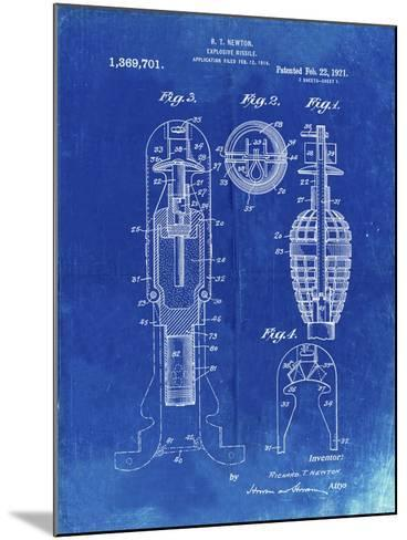PP12 Faded Blueprint-Borders Cole-Mounted Giclee Print