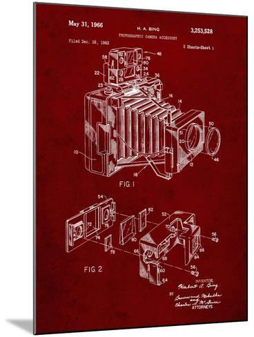 PP34 Burgundy-Borders Cole-Mounted Giclee Print