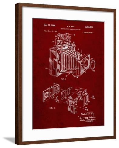 PP34 Burgundy-Borders Cole-Framed Art Print