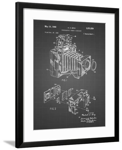PP34 Black Grid-Borders Cole-Framed Art Print