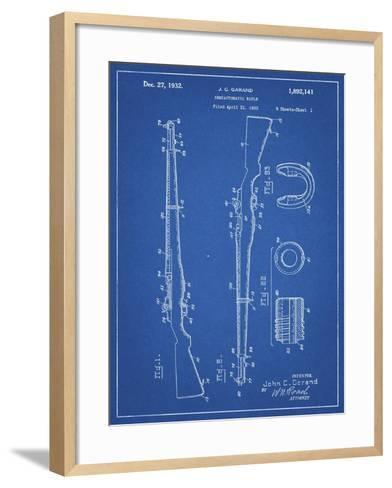 PP35 Blueprint-Borders Cole-Framed Art Print
