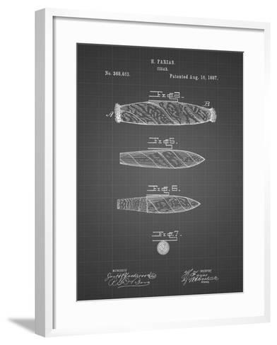 PP43 Black Grid-Borders Cole-Framed Art Print