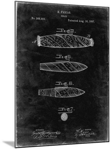 PP43 Black Grunge-Borders Cole-Mounted Giclee Print