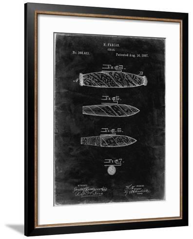 PP43 Black Grunge-Borders Cole-Framed Art Print