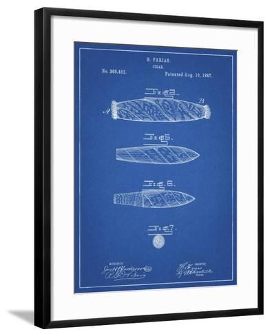 PP43 Blueprint-Borders Cole-Framed Art Print