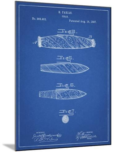 PP43 Blueprint-Borders Cole-Mounted Giclee Print