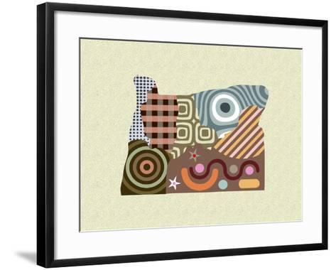 Oregon State Map-Lanre Adefioye-Framed Art Print