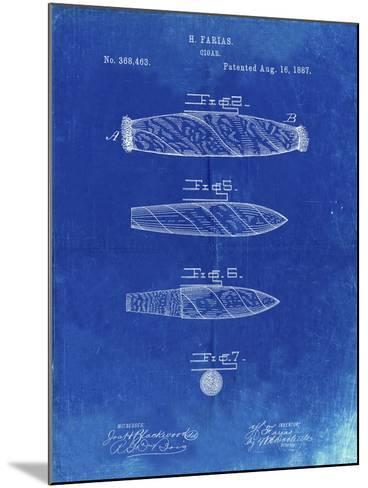 PP43 Faded Blueprint-Borders Cole-Mounted Giclee Print