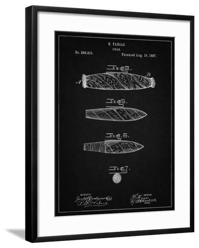 PP43 Vintage Black-Borders Cole-Framed Art Print
