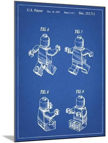 PP50 Blueprint-Borders Cole-Mounted Giclee Print