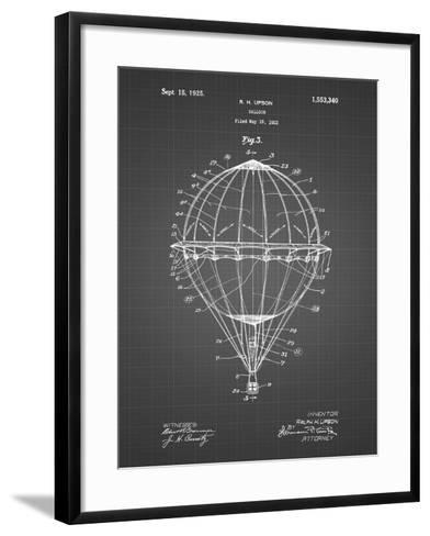 PP36 Black Grid-Borders Cole-Framed Art Print
