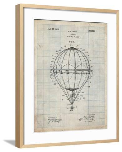 PP36 Antique Grid Parchment-Borders Cole-Framed Art Print