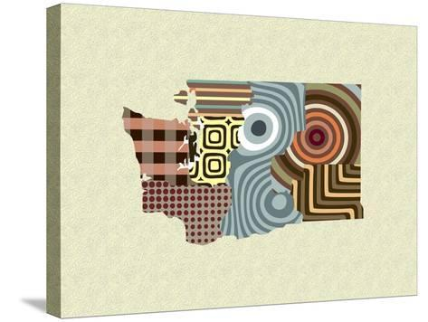 Washington State Map-Lanre Adefioye-Stretched Canvas Print