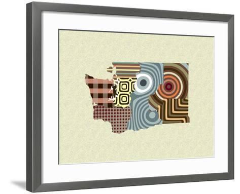 Washington State Map-Lanre Adefioye-Framed Art Print