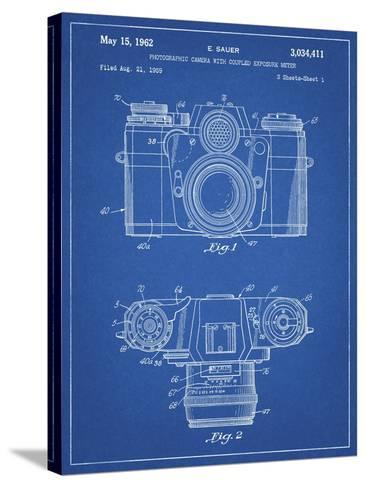 PP6 Blueprint-Borders Cole-Stretched Canvas Print