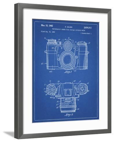 PP6 Blueprint-Borders Cole-Framed Art Print