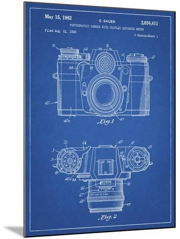 PP6 Blueprint-Borders Cole-Mounted Giclee Print