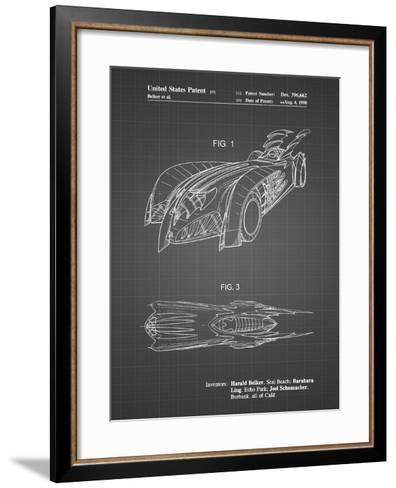 PP16 Black Grid-Borders Cole-Framed Art Print