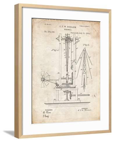PP26 Vintage Parchment-Borders Cole-Framed Art Print
