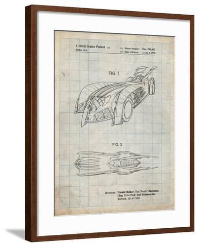PP16 Antique Grid Parchment-Borders Cole-Framed Art Print