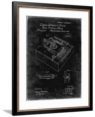 PP45 Black Grunge-Borders Cole-Framed Art Print