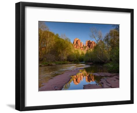 Cathedral Rock Reflection-Michael Blanchette Photography-Framed Art Print