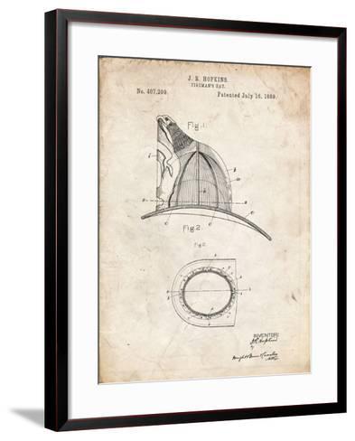 PP38 Vintage Parchment-Borders Cole-Framed Art Print