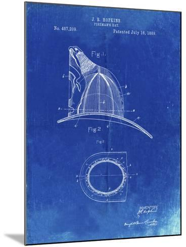 PP38 Faded Blueprint-Borders Cole-Mounted Giclee Print