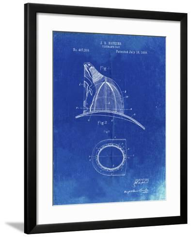 PP38 Faded Blueprint-Borders Cole-Framed Art Print