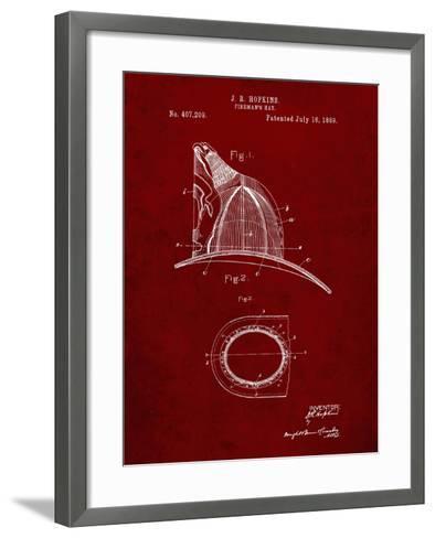 PP38 Burgundy-Borders Cole-Framed Art Print