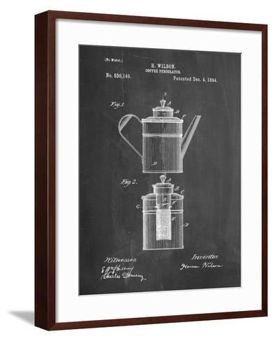 PP27 Chalkboard-Borders Cole-Framed Art Print