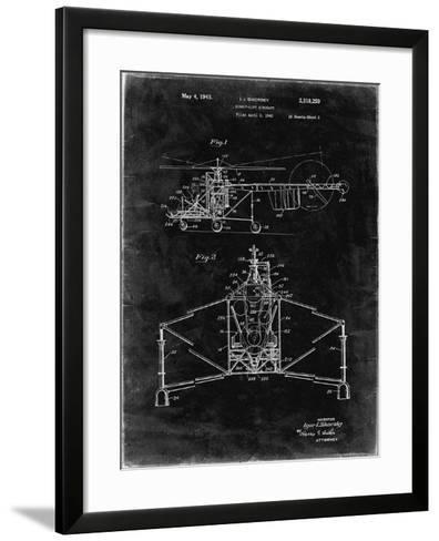 PP28 Black Grunge-Borders Cole-Framed Art Print