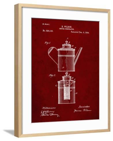PP27 Burgundy-Borders Cole-Framed Art Print