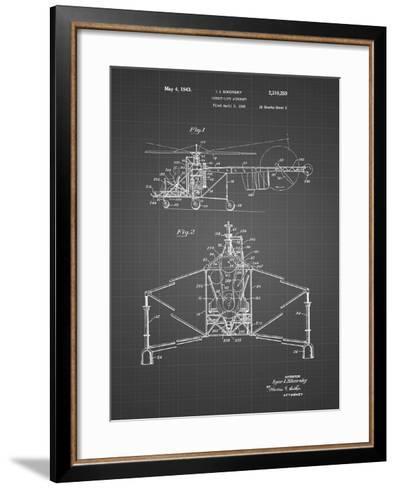 PP28 Black Grid-Borders Cole-Framed Art Print