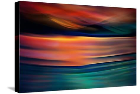 Slocan In Orange And Green-Ursula Abresch-Stretched Canvas Print